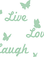 Quote Luminous Sticker Live Laugh Love Decal Glow in the Dark Home Decor