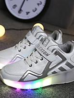 לבנים-נעלי אתלטיקה-PU-נוחות להאיר נעליים-שחור כחול לבן-שטח יומיומי ספורט-פלטפורמה