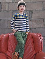 Jungen T-Shirt-Lässig/Alltäglich Gestreift Baumwolle Herbst Blau