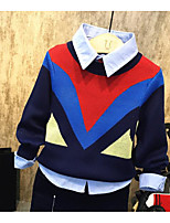 Boy's Casual/Daily Color Block Sweater & CardiganAcrylic Winter / Fall Blue