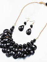 Jewelry 1 Necklace / 1 Pair of Earrings Non Stone Halloween / Wedding / Party / Daily / Casual 1set Women Gold Wedding Gifts
