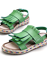 Women's Sandals Summer Platform / Creepers PU Outdoor / Casual Platform Buckle / Braided Strap Black /White Others