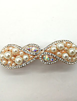 Women Gold Plated / Rhinestone / Imitation Pearl Hair Clip,Cute / Party / Work / Casual