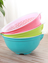 1PC Color Random The Household Culinary Environmental Fruit Wash The Dishes Multifunction Basin Aad Basket
