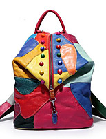 Women PU Casual Backpack Multi-color