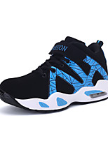Men's Sneakers Spring / Fall Comfort PU Athletic Flat Heel Lace-up Black / Blue / Red Basketball
