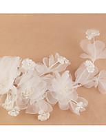 Свадебные вуали Один слой Фата для коротких волос Кружевная кромка Кружево