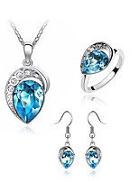 Thousands of colors  Jewelry Necklaces / Earrings / Rings Jewelry set Crystal Fashion Daily 1set Women -2827