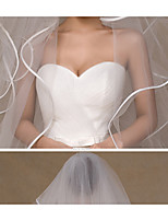 Wedding Veil One-tier Cathedral Veils Pencil Edge Tulle