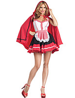 Cosplay Costumes Oktoberfest/Beer Halloween Red / White / Black Print Cotton Dress / Cloak