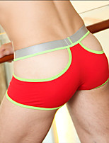 Men Sexy Color Block Shaping Panties Boxer Briefs,Cotton / Nylon / Spandex