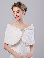 Women's Wrap Capelets Faux Fur / Imitation Cashmere Wedding / Party/Evening Rhinestone