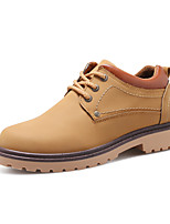 Men's Oxfords Spring / Fall Comfort PU Casual Low Heel Lace-up Black / Blue / Brown Others