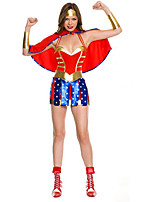 Cosplay Costumes Super Heroes Movie Cosplay Red Solid Dress / Shawl Halloween / Carnival Female Polyester
