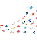 Cartoon Shoal Of Fish Underwater World Wall Stickers DIY Children's Bedroom Wall Decals
