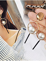 Ball Circle Simple Personality Fashion Hoop Dangle Drop Earrings