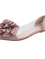Women's Sandals Summer Comfort PU Casual Flat Heel Flower Black / Pink / Gray Others