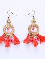 European And American Fashion Circle Tassels Eardrop National Wind Earrings