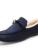 Черный Синий Красный-Мужской-Для офиса Повседневный Для вечеринки / ужина-Замша-На плоской подошве-Удобная обувь-Мокасины и Свитер