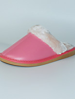 Розовый-Женский-На каждый день-Полиуретан-На плоской подошве-Босоножки-Тапочки и Шлепанцы
