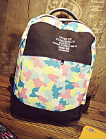 Women Canvas Sports / Outdoor Backpack Purple / Blue / Green / Red / Gray