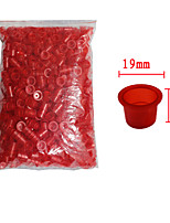 Solong Tattoo 1000 pcs Tattoo Ink Cups Plastic Caps Large Size Red Color TC101-2