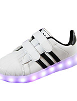 Unisex Sneakers Spring / Summer / Fall / Winter Others PU Casual Flat Heel Others / LED / Hook & Loop Black / Red Others