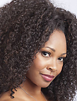 Black Color Short Curly European Synthetic Wigs Capless For Afro Women