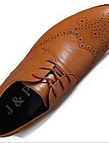 Черный / Коричневый / Белый-Мужской-На каждый день-ПолиуретанУдобная обувь-Туфли на шнуровке