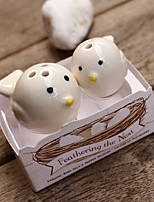 2pcs/box - Mommy and Me Little Birds Ceramic Salt & Pepper Shakers Beter Gifts Baby Birthday Party Essentials