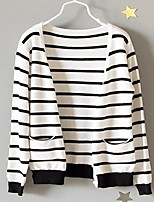 Girl's Casual/Daily Striped Sweater & Cardigan,Cotton Spring / Fall White