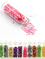 12 Colors Heteromorphism Hollow Out Glitter Shape Sequins Powder Nail Art Decorations