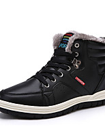 Men's Flats Winter Mary Jane PU Casual Flat Heel Lace-up Black / Blue / Brown Others