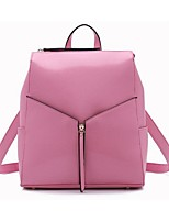 Women Cowhide Casual / Outdoor Backpack White / Pink / Yellow / Brown / Black / Burgundy / Fuchsia