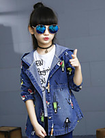Girl's Casual/Daily Print Suit & BlazerCotton Fall Blue