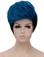 жен. Парики из искусственных волос Без шапочки-основы Прямые Яки Черный Парики для косплей Карнавальные парики