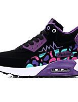 Men's Sneakers Spring / Fall Comfort PU Casual Flat Heel Purple / Red / Orange Sneaker