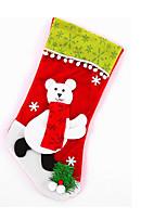 Large green velvet edge ball cartoon socks Christmas stocking Snowman old deer Plush knitting trade custom