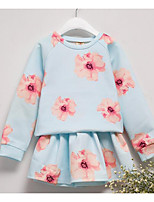 Girl's Casual/Daily Floral Dress,Cotton Spring / Fall