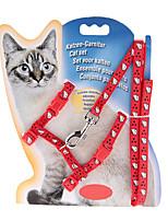Cat Collar Adjustable/Retractable Solid Red Nylon