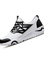 Men's Sneakers Fall / Winter Comfort PU Outdoor / Athletic Flat Heel Lace-up Black / Red / White Sneaker