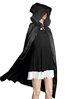 Cosplay Costumes / Cloak / Halloween Props / Party Costume / Masquerade Wizard/Witch / Angel/Devil / Ghost Movie Cosplay Black Solid Cloak