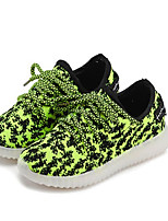 Unisex Sneakers Spring / Fall Comfort PU Casual Flat Heel LED / Lace-up Black / Green / Pink Sneaker