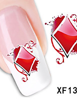 Poker Pattern Watermark Nail Sticker