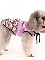 Dog Dress Red / Purple Dog Clothes Summer / Spring/Fall Flower Classic / Casual/Daily /