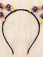 acendem-se as orelhas de gato headband da flor da margarida levou headbandkitty cabeça halloween giftchristmas ideia do presente da festa