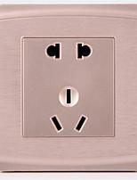 interrupteur maison de commutation panneau de prises de commutateur de fil commutateur socket plastique 86 mur / trois package à vendre