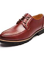 Черный / Желтый / Красный-Мужской-На каждый день-МикроволокноУдобная обувь-Туфли на шнуровке