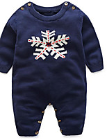 Baby Casual/Daily Solid Clothing Set-Cotton-Spring / Fall-Blue / Red