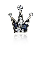 Fashion Vintage Diamond Crown Brooch
